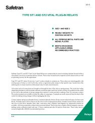 type st1 and st2 vital plug-in relays