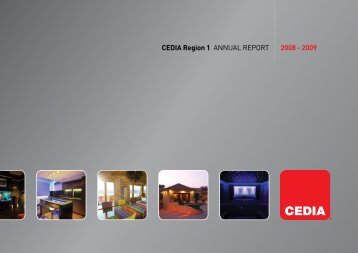 CEDIA Region 1 ANNUAL REPORT 2008 - 2009