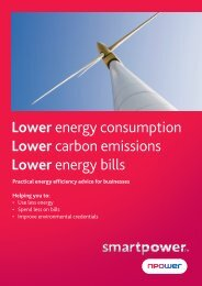 Lower energy consumption Lower carbon emissions ... - Npower