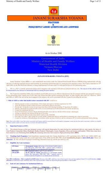 Janani Suraksha Yojana (JSY) - Nrhmharyana.org