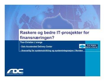 Last ned presentasjon - Norsk senter for prosjektledelse