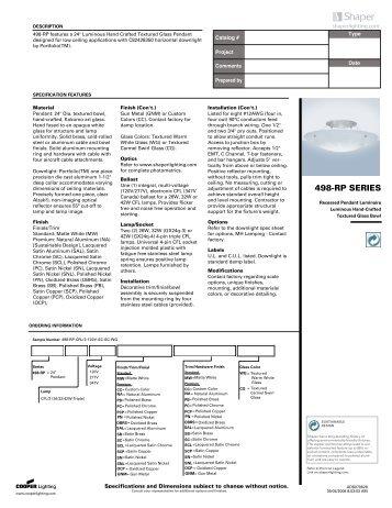 498-RP SERIES - Texas Lighting Sales