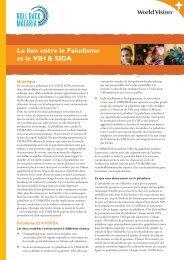 Le lien entre le Paludisme et le VIH & SIDA