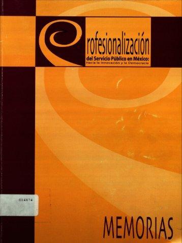 PROFESIONALIZACION DEL SERVICIO PUBLICO EN MEXICO