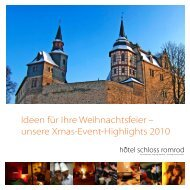 unsere Xmas-Event-Highlights 2010 - Hôtel Schloss Romrod