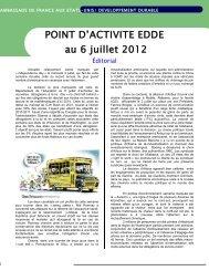 POINT D'ACTIVITE EDDE au 6 juillet 2012