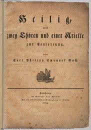 Harvard University - Eda Kuhn Loeb Music Library Bach, Carl ...