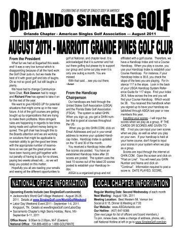 American singles golfer association