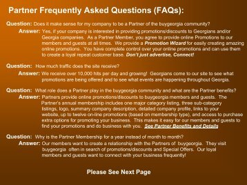 Partner Frequently Asked Questions (FAQs): - Buy Georgia