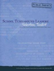School Turnaround Leaders: Selection Toolkit - Public Impact
