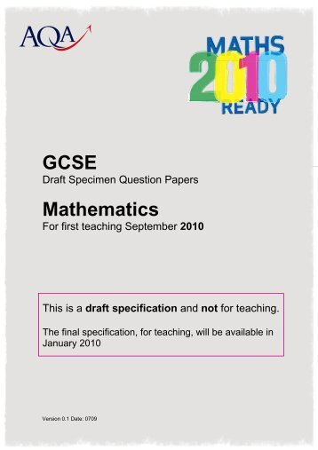 gcse physics specimen question paper foundation aqa