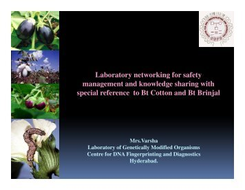 Laboratory networking for safety management and ... - ILSI India