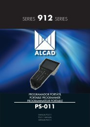 ALCAD MS-511 PROGRAM MODE PS PROGRAMMER Serie 912-MS