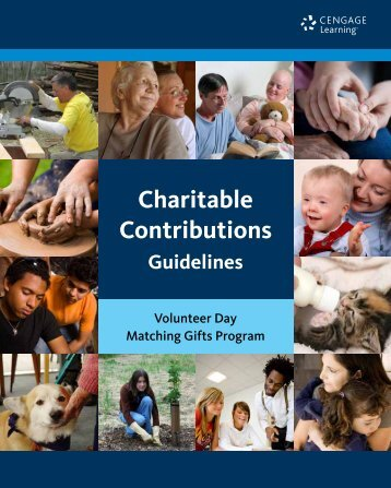 Cengage Learning Charitable Contributions Guidelines