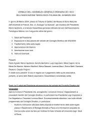 VERBALE DELL'ASSEMBLEA GENERALE ORDINARIA DEI SOCI ...