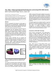 The iField - Enhancing Predicted Field Production Levels ... - Sercel