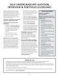 UNDERgRADUATE AUDITION gUIDElINES - Shenandoah University - Page 2