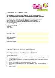 Fragebogen zur Evaluation - Schools at University for Climate and ...