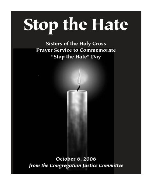 Stop the Hate - Holy Cross International Justice Office