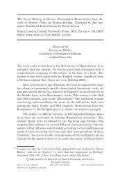The Secret History of Hermes Trismegistus:Hermeticism ... - IRCPS