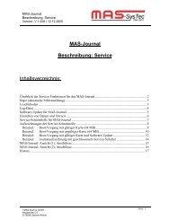 Service-Funktionen für MAS-Journal - TASK Forum