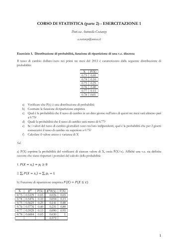 Tabella 1 funzione di ripartizione della distribuzione normale - Tavole di distribuzione normale ...