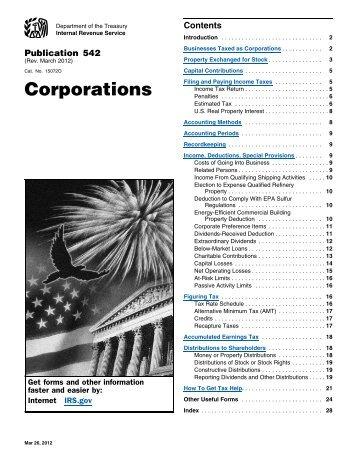 Publication 542 (Rev. March 2012) - Internal Revenue Service