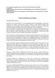 Corps et souffrance psychique, I. Charpine, G. Garnier, HUG
