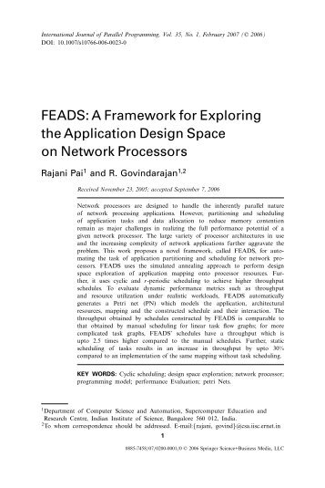 FEADS: A Framework for Exploring the Application ... - IngentaConnect