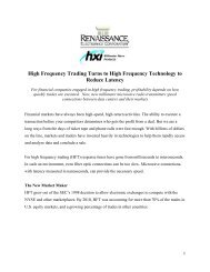 High Frequency Trading Radio Link Article - Renaissance ...