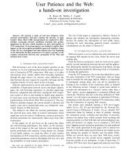 User Patience and the Web - Telecommunication Networks Group ...