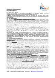Oxidativer Stress - Vitatest