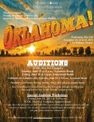AUDITIONS - Tulare County Office of Education