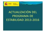 actualización del programa de estabilidad 2013-2016 - Faro de Vigo