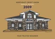 2009 NECU Annual Report - Northeast Credit Union