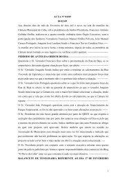 ACTA Nº 25/08 - Câmara Municipal de Cuba