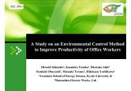 A Study on an Environmental Control Method to Improve Productivity ...