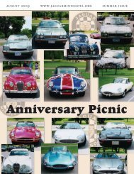 Summer Quarter Newsletter - August, 2009 - Jaguar Club of MN