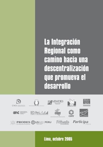 La Integración Regional como camino hacia una descentralización ...