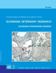 fluid therapy in haemorrhagic shock - Slovenian veterinary research