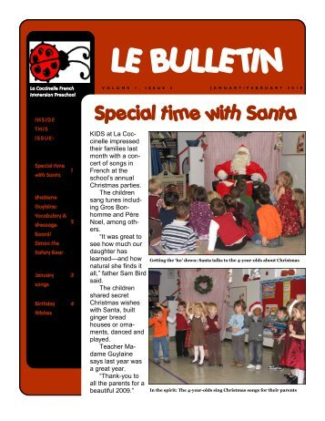 LE BULLETIN - La Coccinelle is a French immersion preschool