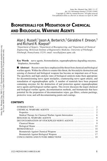 future of chemical biological warfare Chemical and biological weapons: future defenses i chemical and biological weapons: current concepts for future defenses.