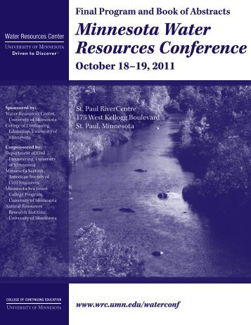 2011 Book of Abstracts (.pdf) - Water Resources Center - University ...
