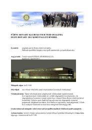 pärnu rotary klubi kutsub teid osalema eesti rotary 2011 ...