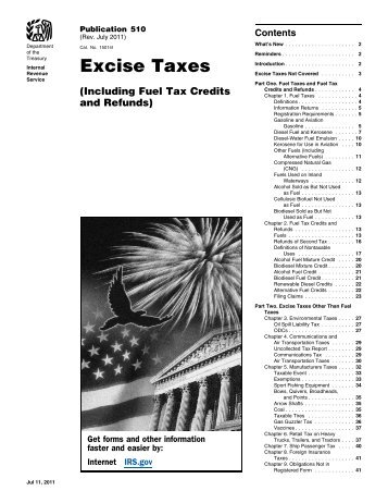 Publication 510 (Rev. July 2011) - Internal Revenue Service