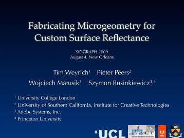 Fabricating Microgeometry for Custom Surface Reflectance