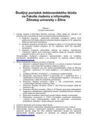 Študijný poriadok doktorandského štúdia na FRI - Fakulta Riadenia ...