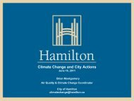 Hamilton - Climate Change and City Actions - Ontario Centre for ...