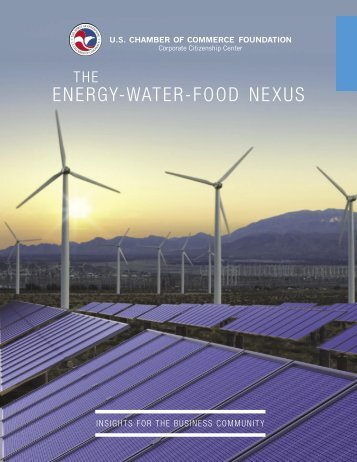 Energy-Water-Food Nexus Research