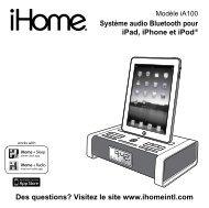 Système audio Bluetooth pour iPad, iPhone et iPod ® Des ... - iHome